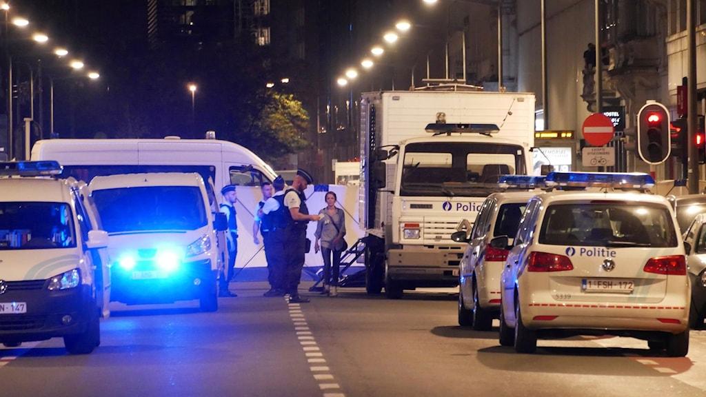 Polisen på plats i Bryssel efter attentatet 2016 (arkivbild). Foto: Sylvain Plazy/TT.