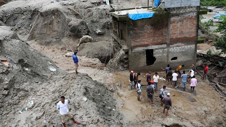 Räddningsarbetet i Sindhupalchok, Nepal.