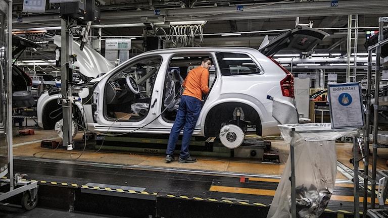 Biltillverkning på Volvo Cars.