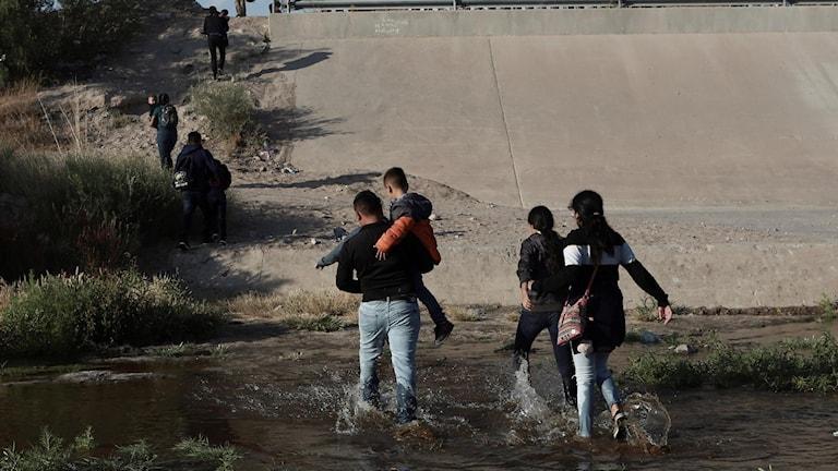 Migranter från Mexiko.
