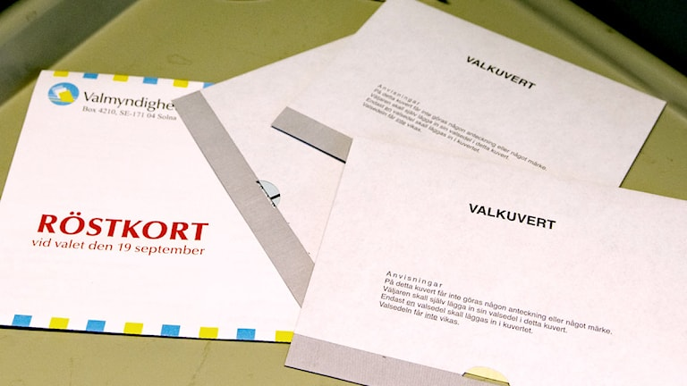 På Gotland lämnades valsedlar obevakade. Foto: Jessica Gow/Scanpix