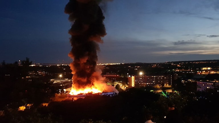 حريق بأحد المباني الصناعية في يوبتوري