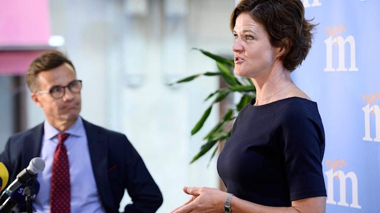 Ulf Kristersson, ekonomisk-politisk talesperson, (M) och Anna Kinberg Batra, partiledare (M)