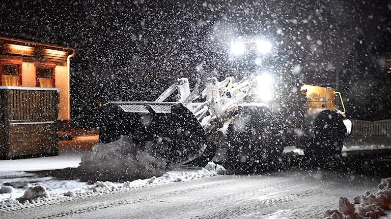Snöoväder i Dalarna