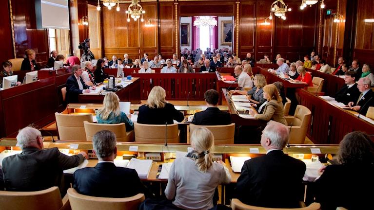Kommunfullmäktige i Göteborg, arkivbild från 2013.