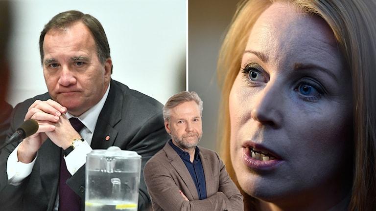 Stefan Löfven, Tomas Ramberg och Annie Lööf.
