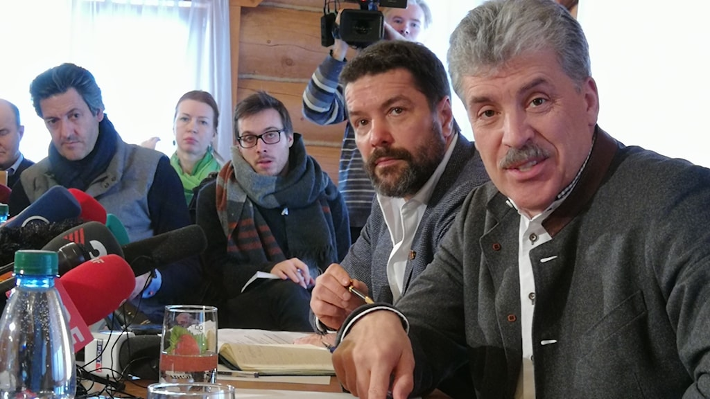 Pavel Grudinin ligger tvåa enligt opinionsmätningarna.