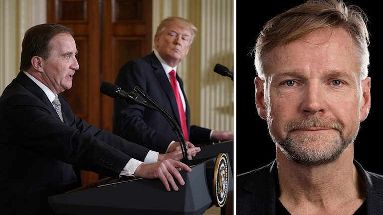 Löfven och Trump påpressträff och Tomas Ramberg.