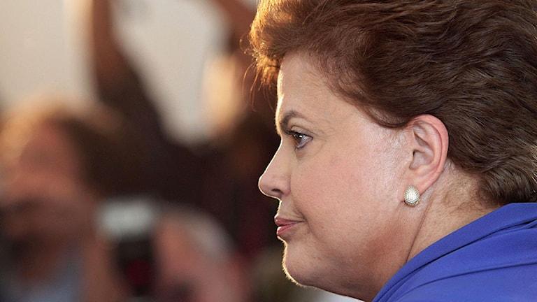 Brasiliens nya president Dilma Rouseff, som efterträder Lula da Silva på nyårsafton. Foto: Eraldo Peres/Scanpix.