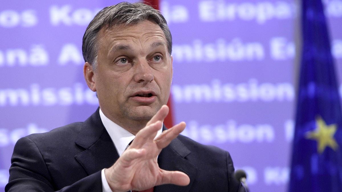 Ungerns premiärminister Victor Orban. Foto: Virginia Mayo/Scanpix.