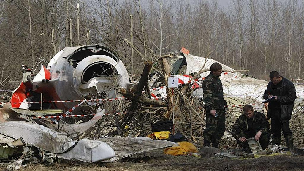 Det polska presidentplanet störtade i Smolensk i Ryssland i april 2010.