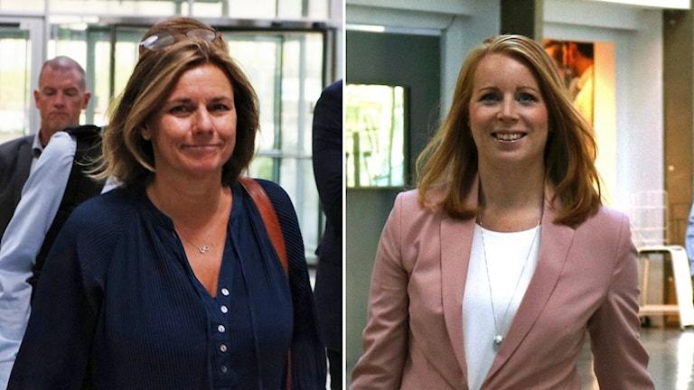 Isabella Lövin (MP) och Annie Lööf (C).
