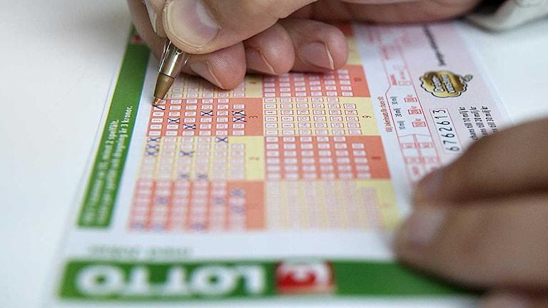 Lottorader fylls i. Foto: Jessica Gow/Scanpix.