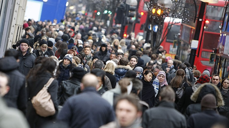 Oxford street i London, 23 december 2010. Foto: Alastair Grant/Scanpix.