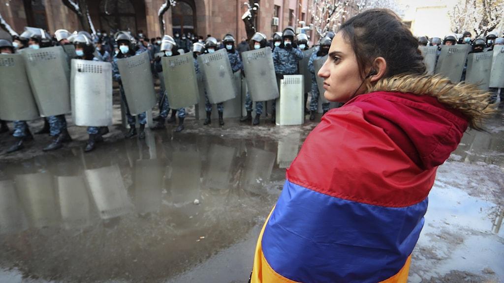 Protester i Armenien
