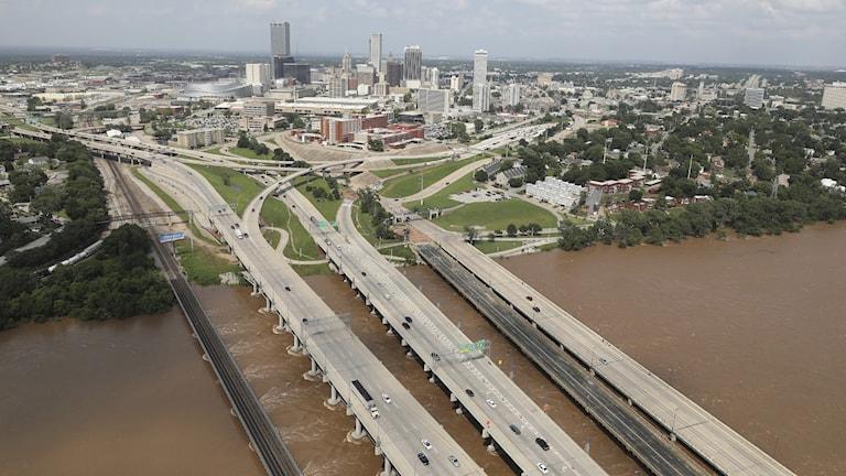 Tulsa, den näst största staden i delstaten Oklahoma i norra USA
