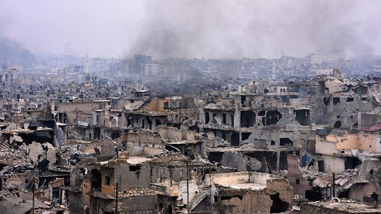 Staden Aleppo i Syrien.
