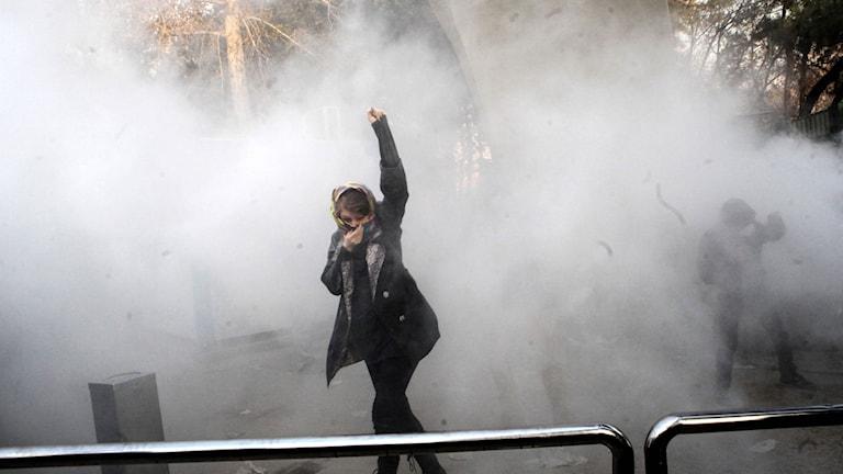 Demonstrant i Teheran.