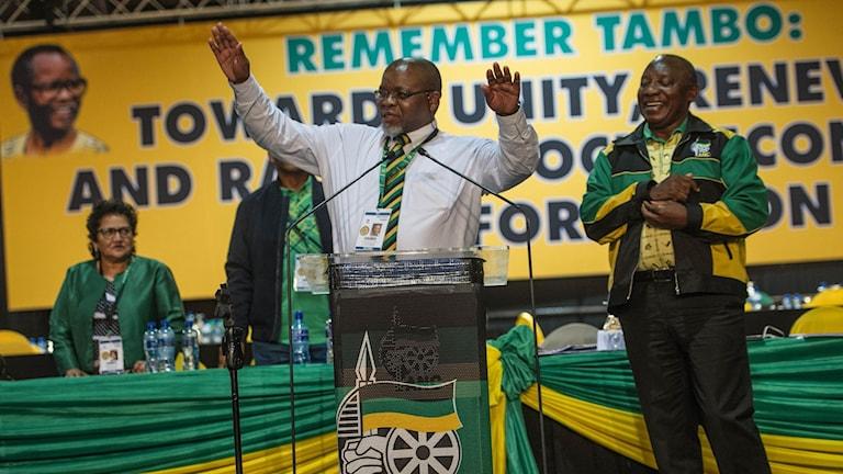Cyril Ramaphosa under ANC:s partikongress