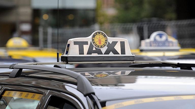 Taxibilar i Stockholm. Foto: Bertil Ericson/Scanpix.