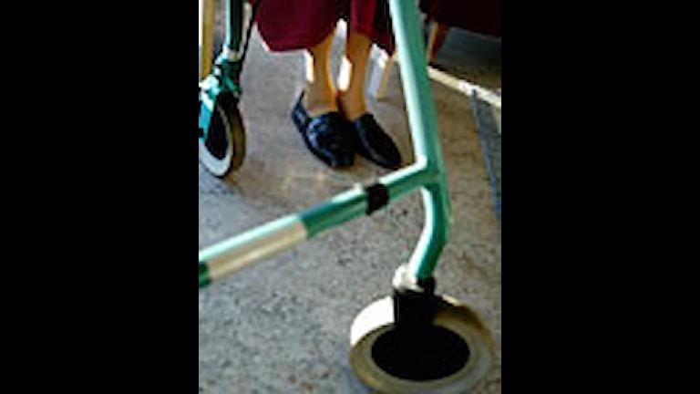 Pensionär på ett äldreboende i Stockholm. Foto: Jessica Gow/PrB.