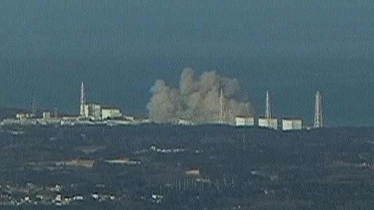 Explosion i kärnkraftverket Fukushima. Foto: NTV/Scanpix.