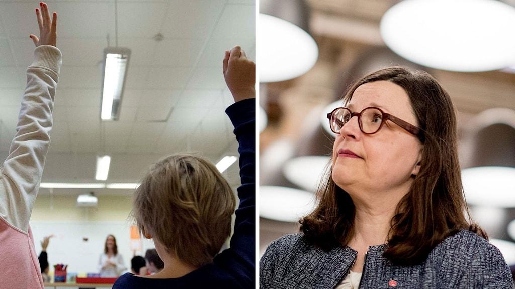 Gymnasieminister Anna Ekström