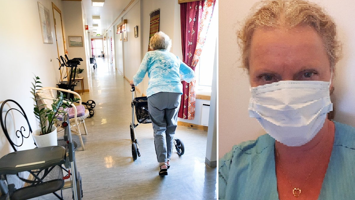 Undersköterskan Susanne Holmqvist på Tjörn.