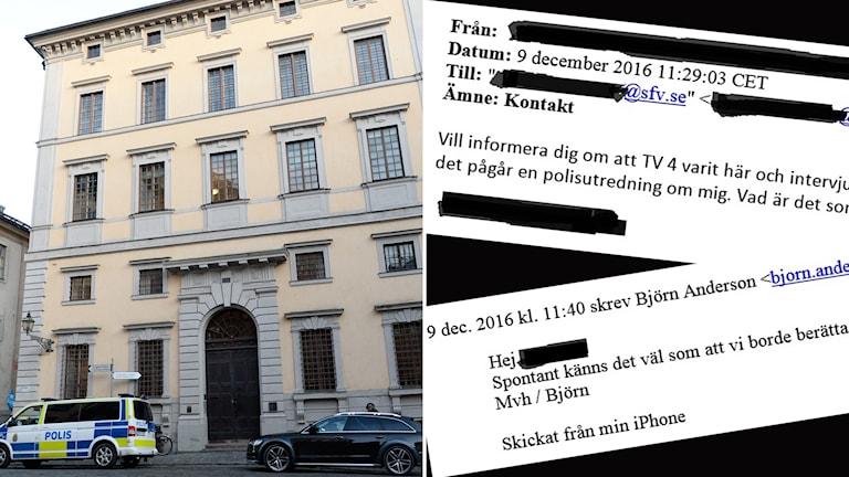 Statens fastighetsverk och mejl mellan chefer på myndigheten