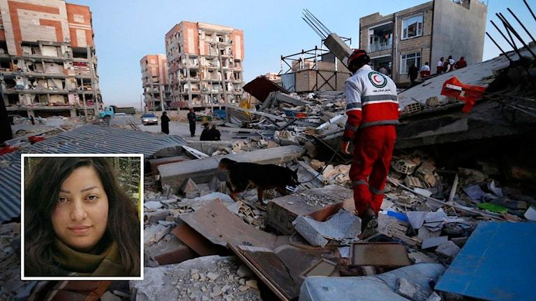 Jordbävning i Sarpol Zahab och en liten bild på Anam Karami.