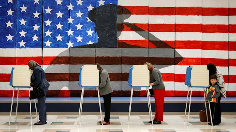 Bild från valdagen, 8 november 2016, i USA.