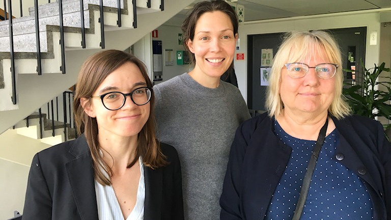 Johanna Melén, Caroline Salzinger och Susanne Palme.