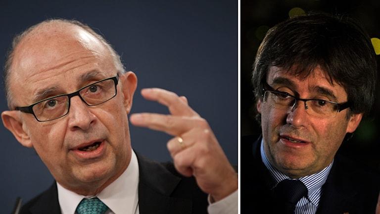 Cristobal Montoro och Carles Puigdemont