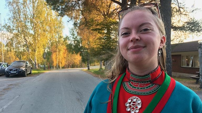 Saara Hermansson, som i kväll deltar i Sámi Grand Prix.