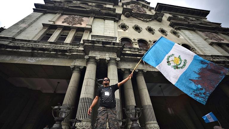 Protester i Guatemala