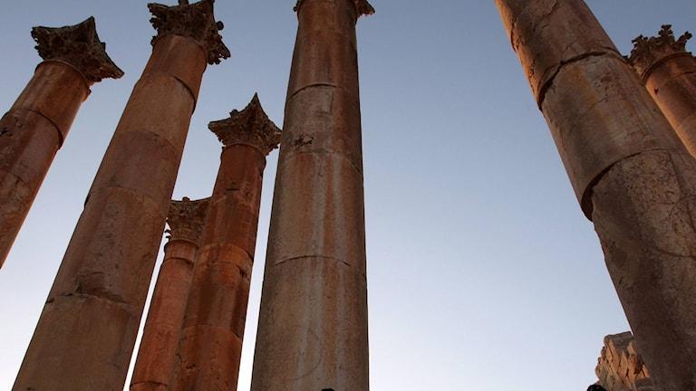 Den romerska staden Jerash i Jordanien