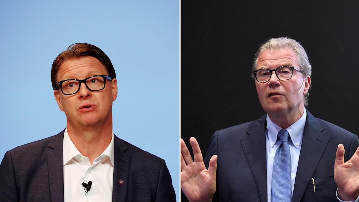 Ericssons vd Hans Vestberg och ordföranden Leif Johansson