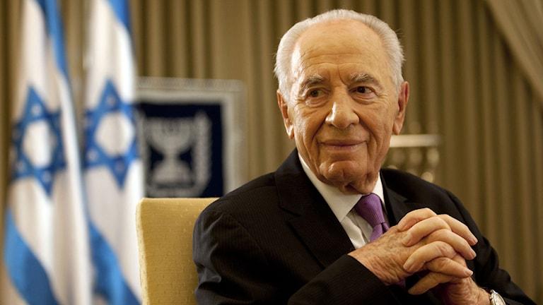 Israels president Shimon Peres. Foto: Sebastian Scheiner/Scanpix.