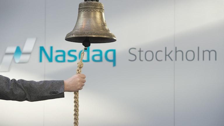 Börsklockan på Stockholmsbörsen