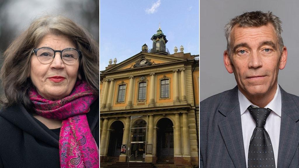 Författaren Jila Mossaed och juristen Eric M Runesson.