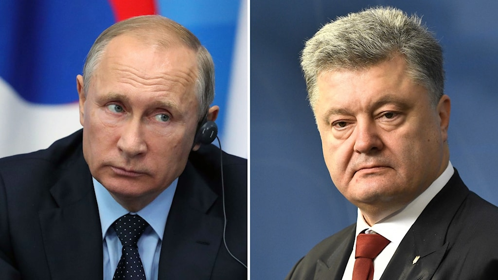 Vladimir Putin och Petro Porosjenko