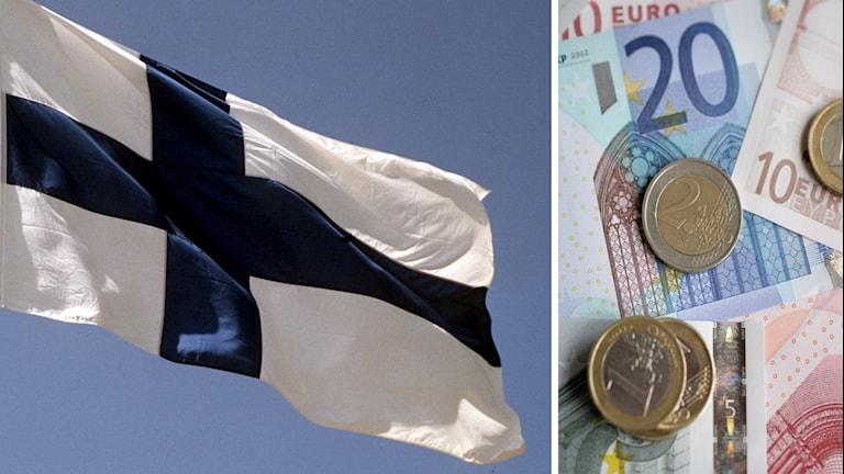 Finland testar medborgarlön. Foto: Janerik Henriksson/Fredrik Sandberg/TT. Montage: Sveriges Radio.