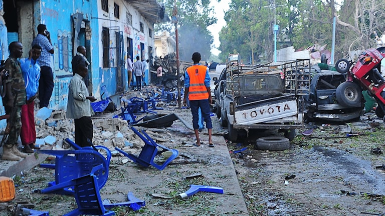 Bombdåd i Mogadishu.