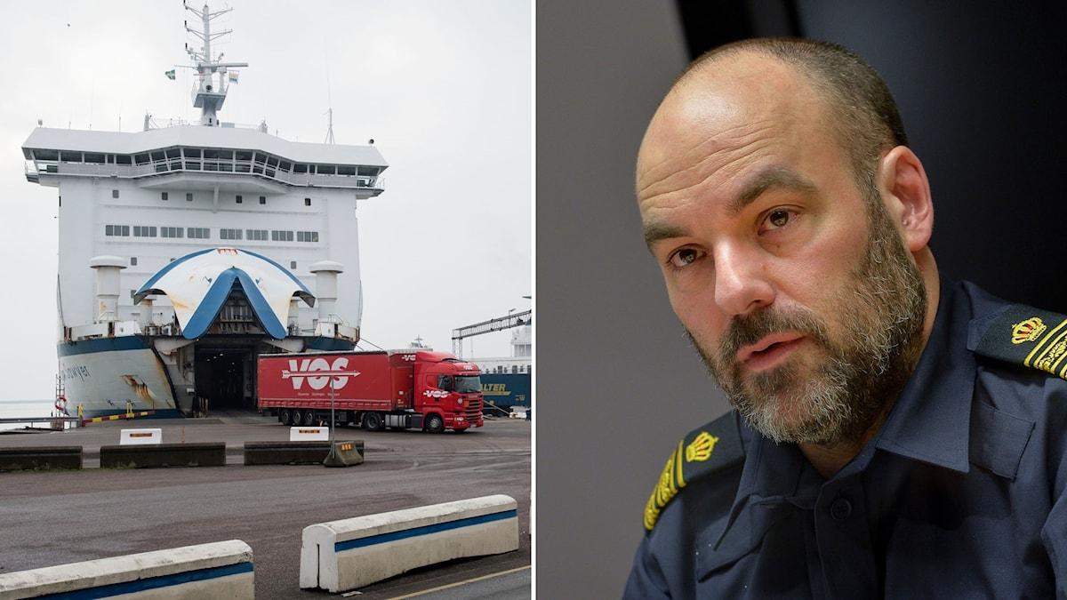 Trelleborg hamn, Patrik Engström, chef för nationella gränspolissektionen vid polisens Nationella