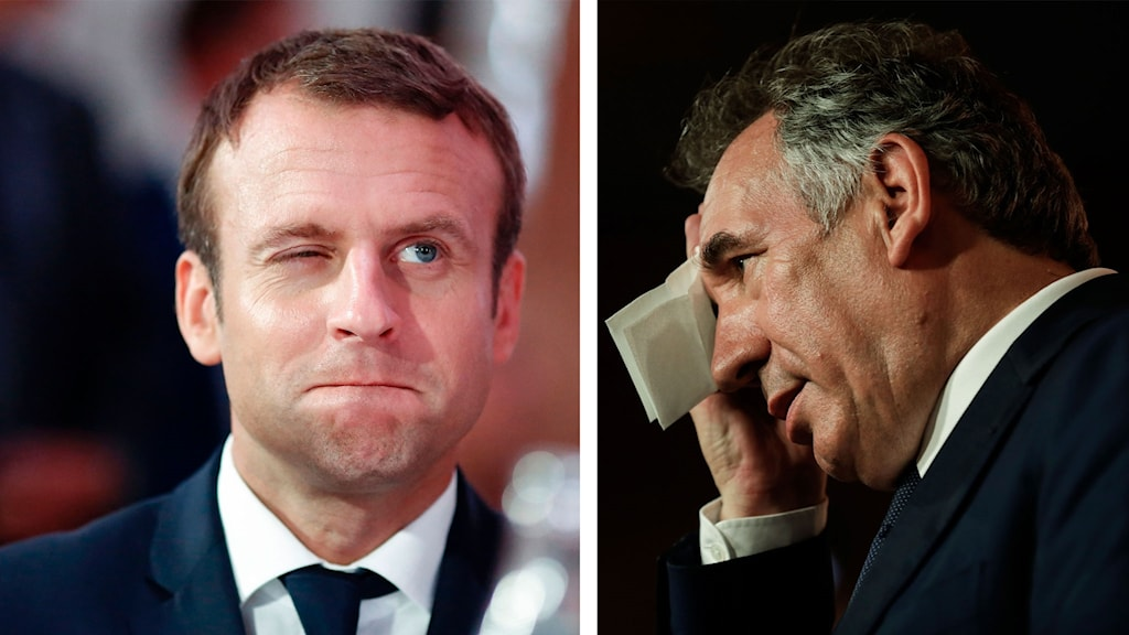 Emmanuel Macron och François Bayrou