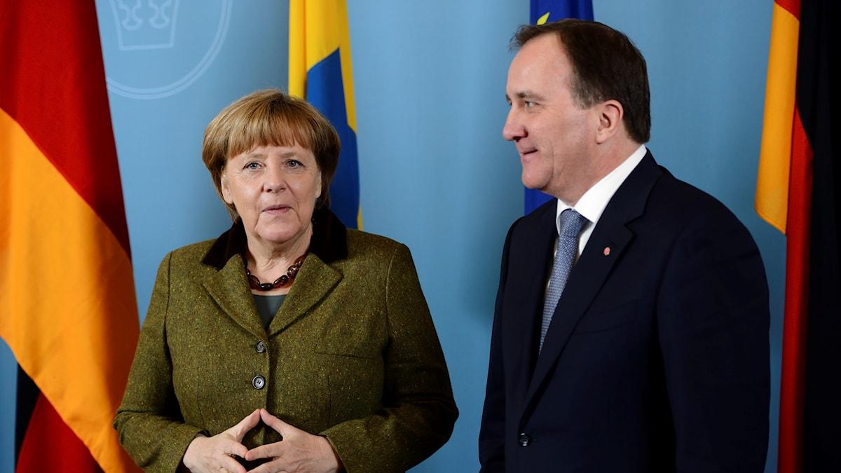 Angela Merkel träffar Stefan Löfven.