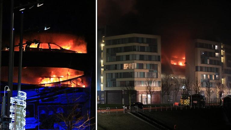 Räddningstjänsten bekämpade branden i flera timmar.