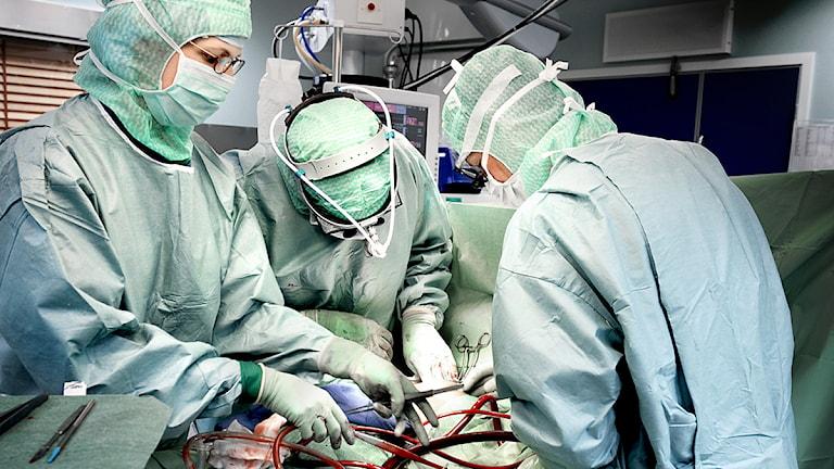 Hjärtoperation på S:t Görans sjukhus. Foto: Tomas Oneborg/Scanpix