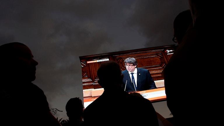 Regionpresident Carles Puigdemont Barcelona Katalonien