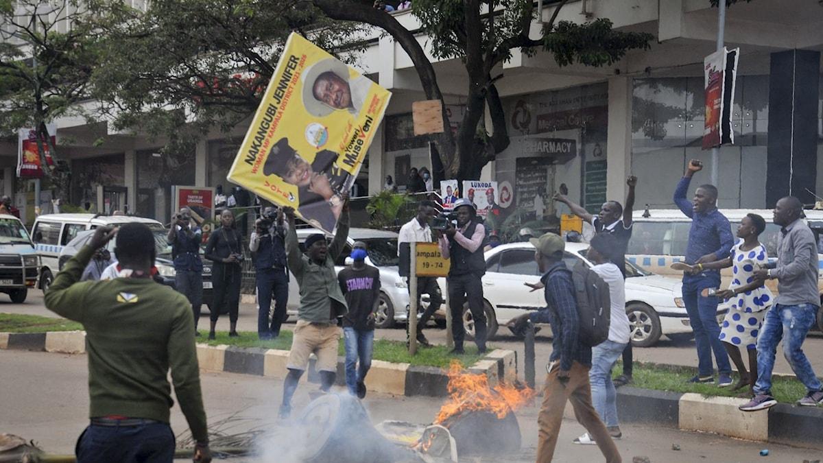 protester inför valet